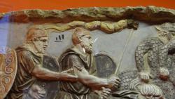 2014 Rome, a basorelief representing the dacs
