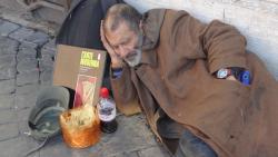 2013 Rome, sleeping man