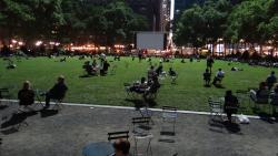 2012 NY, Bryant Park by night