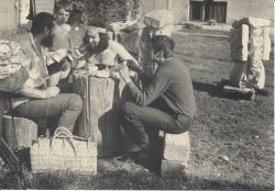 1976, in Nica Petre's garden