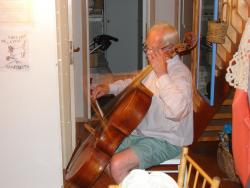 2009 Sweden, Havestenssund - Tom playing cello